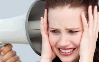 При гипотонии шум в ушах